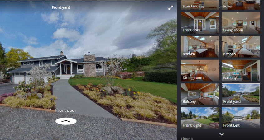 example of a video walk-through listing on Zillow