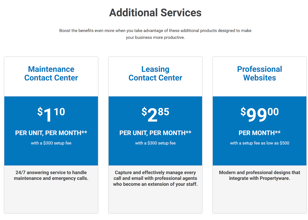 Propertyware Additional Services