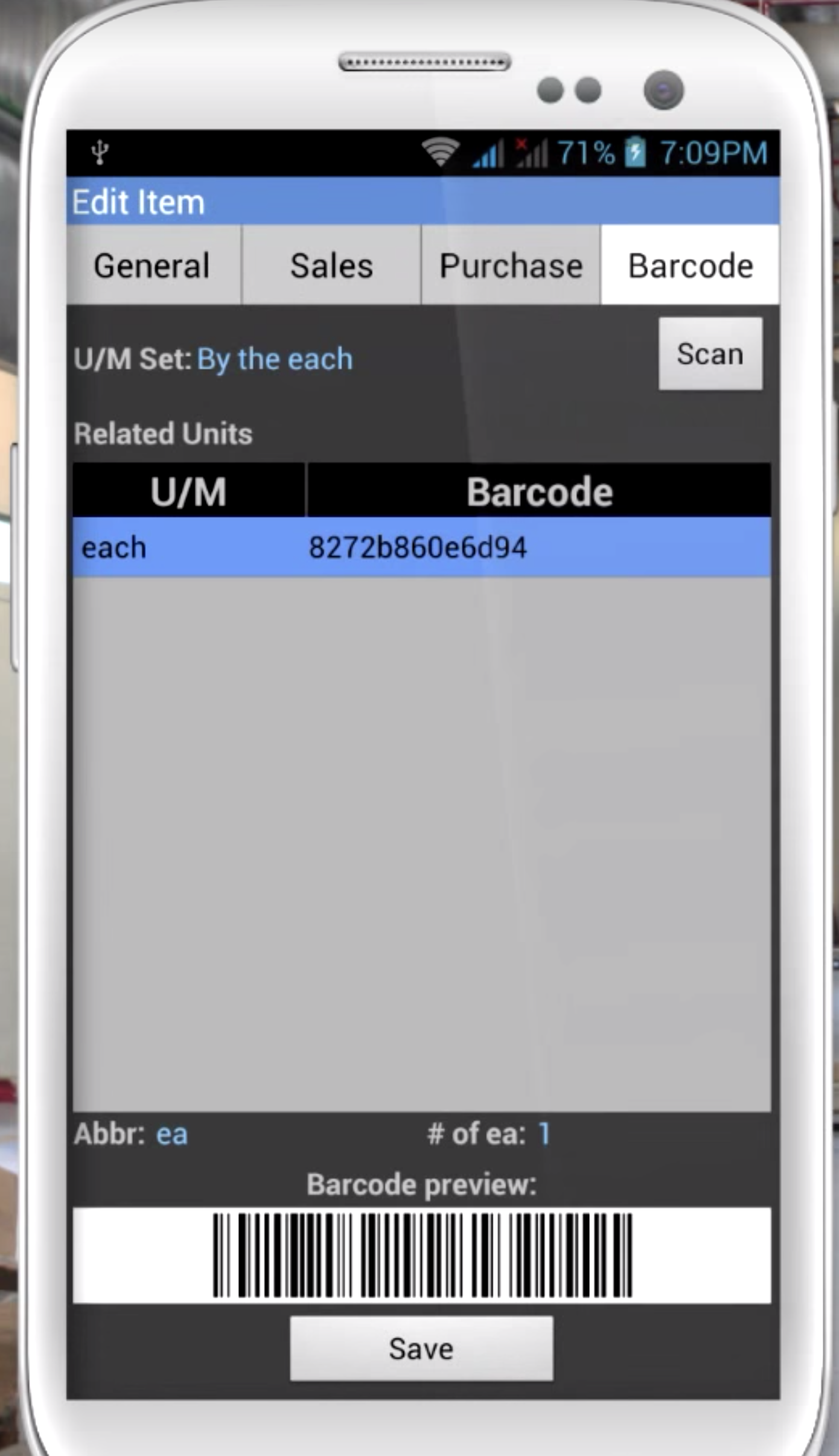 HandiFox on Mobile with Barcode