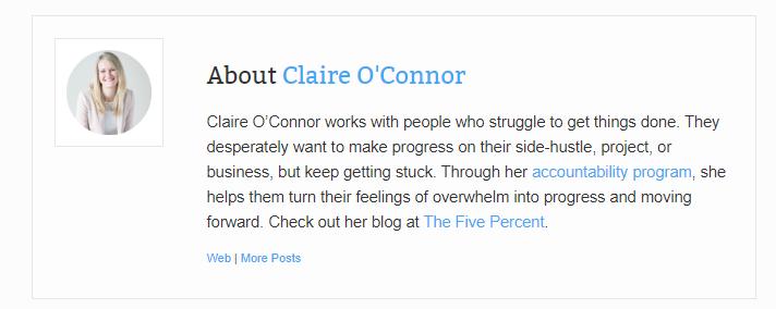 Claire O'Connor author bio