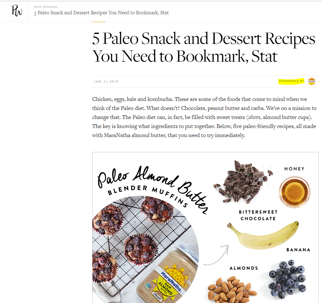 Sponsored Post About Snacks and Dessert by MaraNatha