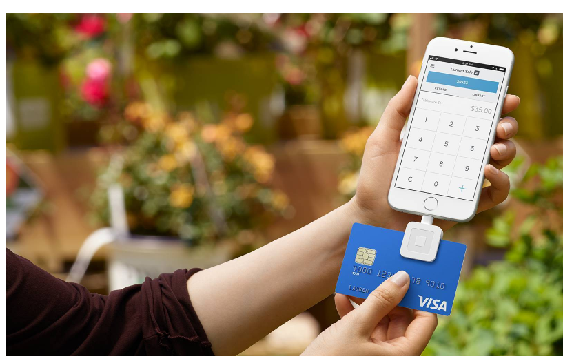 Phone with Credit Card Reader