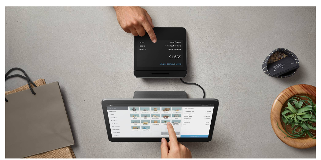 Square POS Register using a tablet
