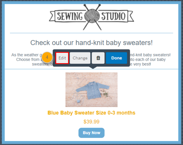 Constant Contact ecommerce integration sample