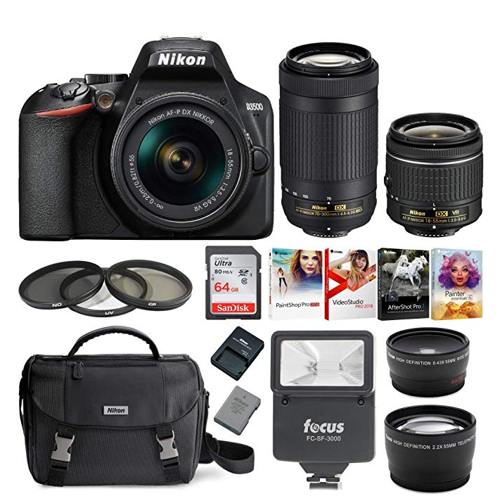 Nikon D3500 and its accessories