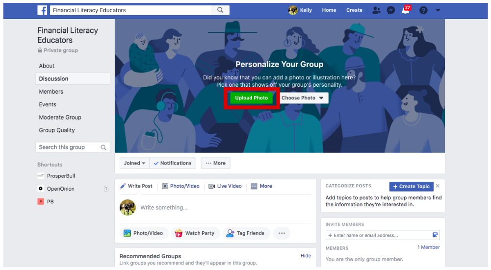 Add a Cover Photo to a Facebook Group for Business