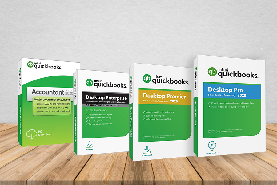 Quickbooks pro vs. Premier vs. Enterprise vs. Accountant 2019.
