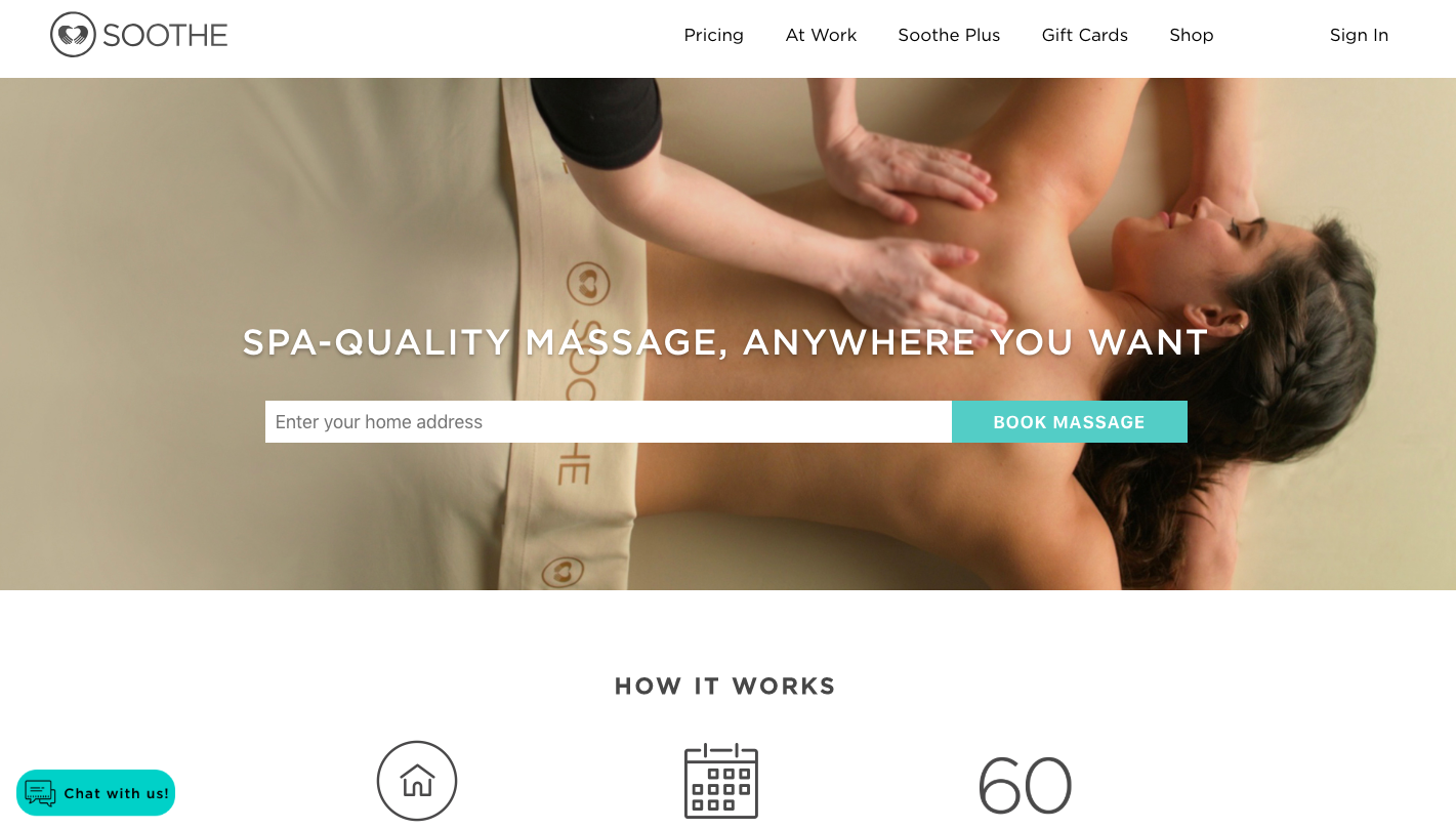 Soothe landing page