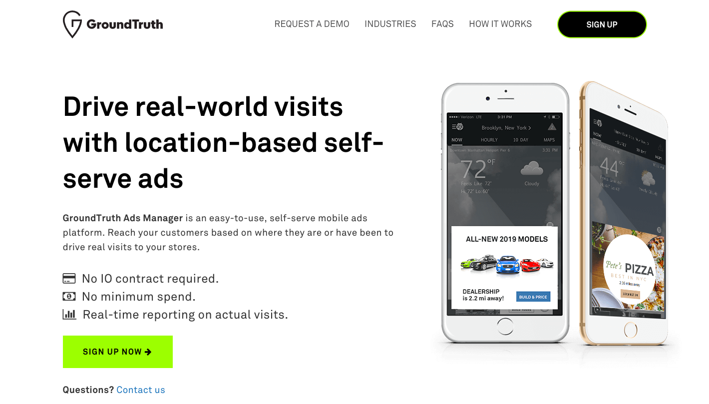 GroundTruth landing page