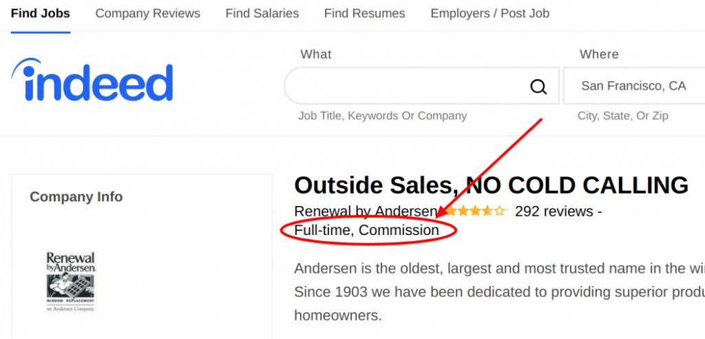indeed Find Jobs Search Engine result