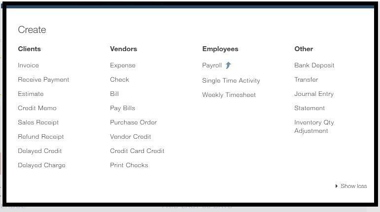 Categorized menu with sub menu