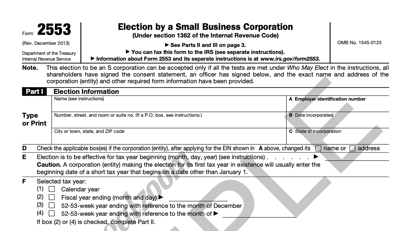 Form 2553 what is incorporation in business & how it works