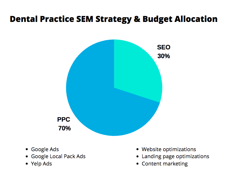 Example of an SEM Strategy & Budget Allocation Chart