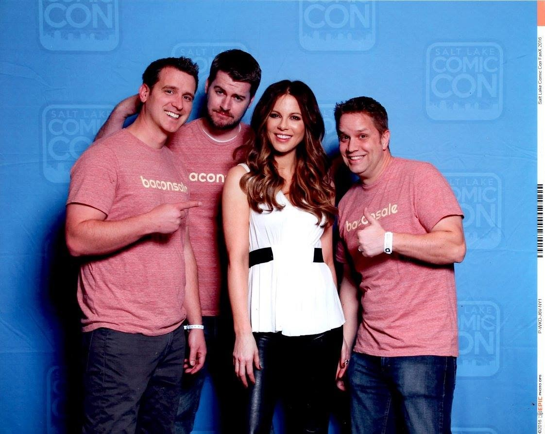 Beckinsale with the Baconsale crew.