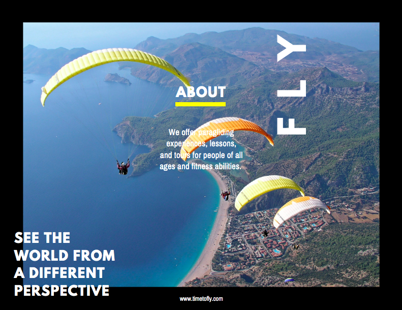 Canva - Adventure Sports Brochure Side 1 Example