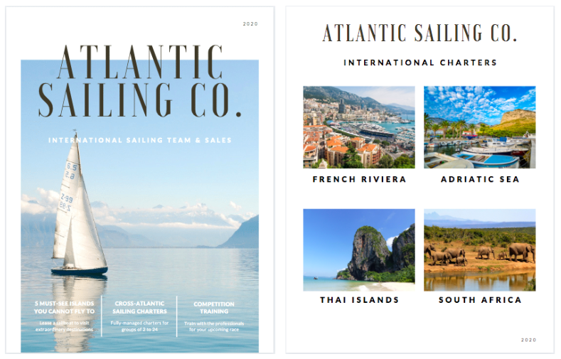 Canva - Sailing Company Sales Booklet Example