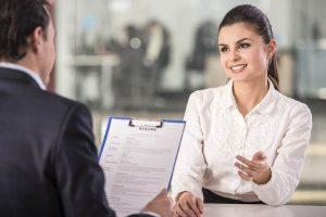 a man interviewed a girl applicant