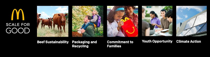 Screenshot of McDonalds Mission Statement