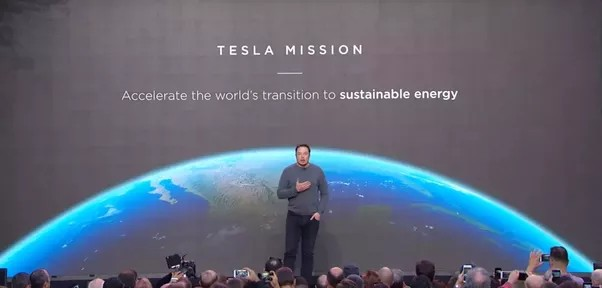 Screenshot of Tesla Mission Statement