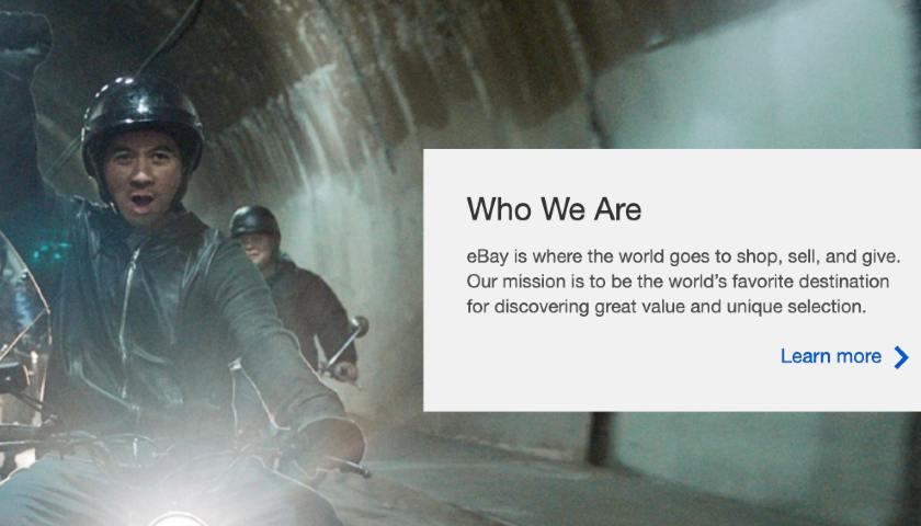 Screenshot of eBay Mission Statement