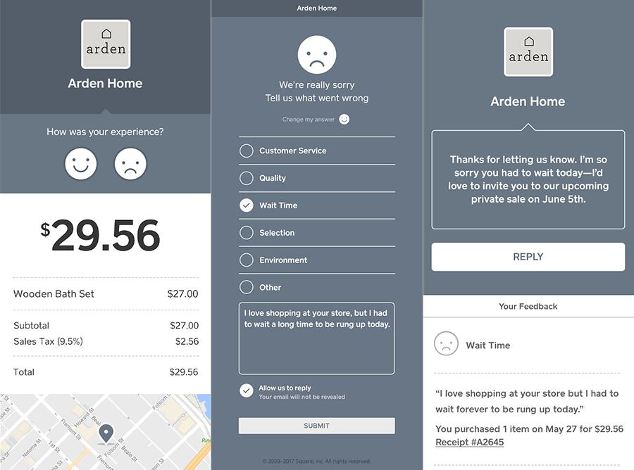 Square POS - customers feedback survey