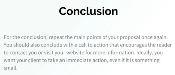 Conclusion Proposal Template