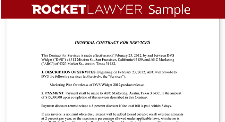 General Contract Example
