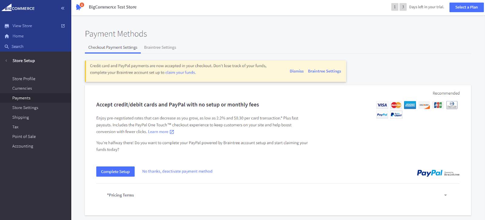Setting up Payment Methods