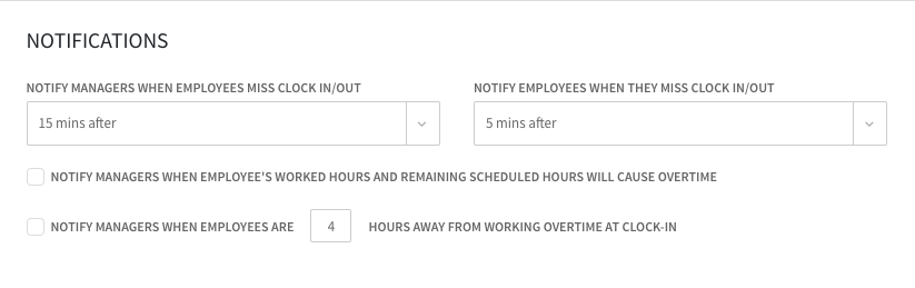 When I Work, overtime alerts setup interface