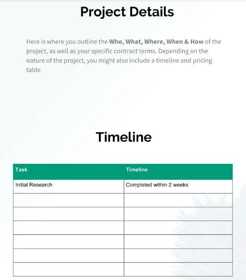 Project Details Proposal Template