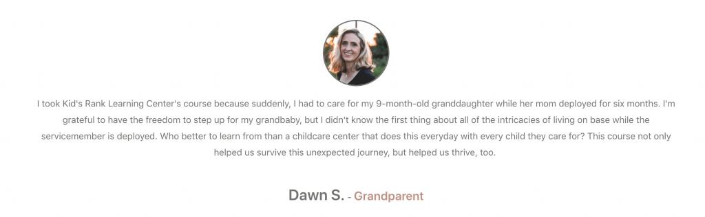 Testimonial from Dawn S.
