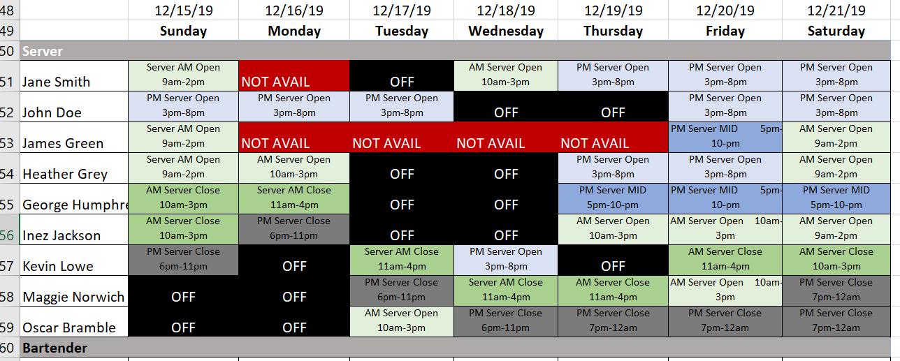 Shift Plan