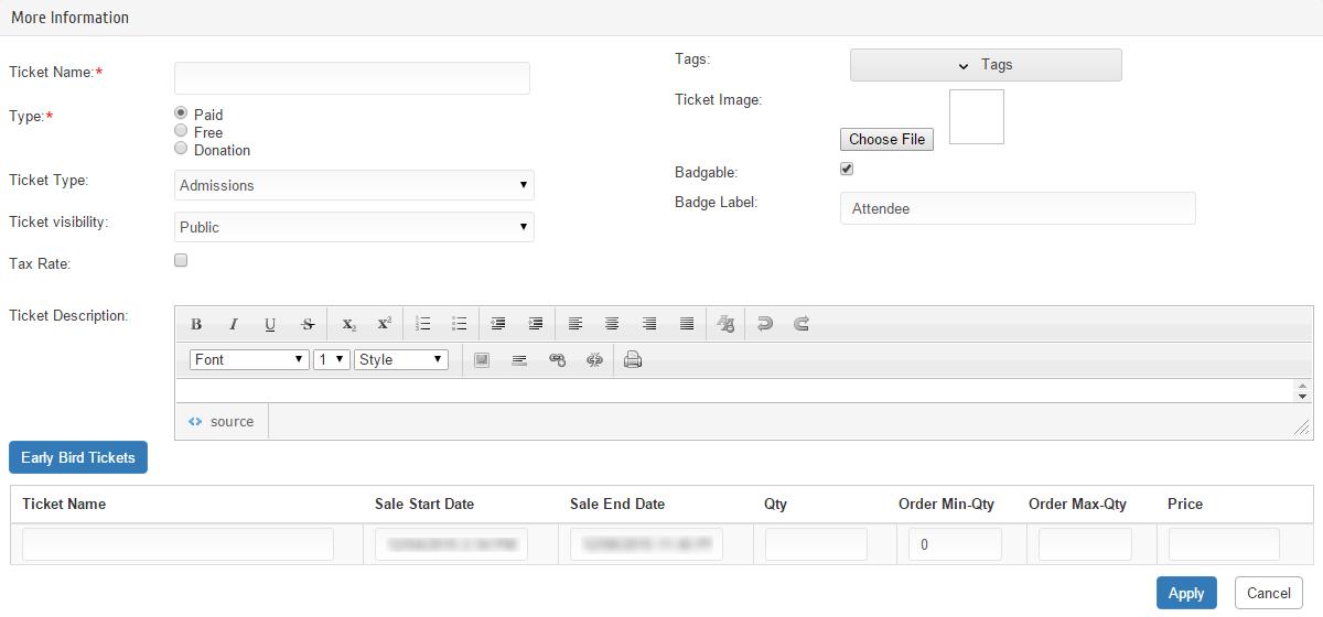 Eventdex features
