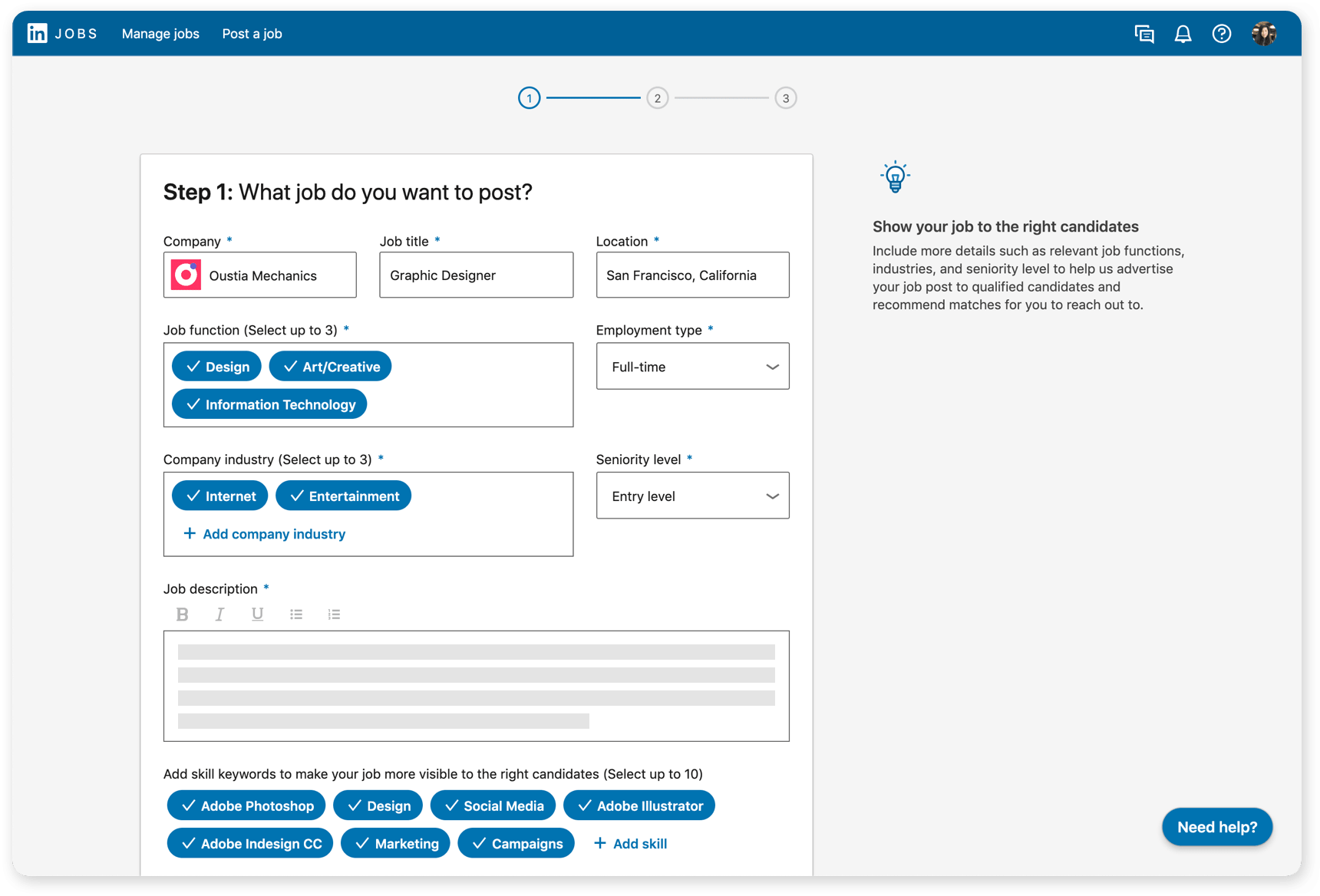 Linkedin Job Features