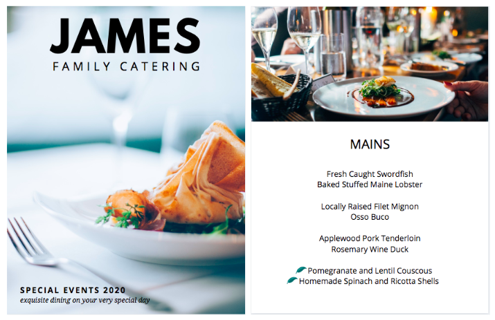 Canva - Catering Booklet Example