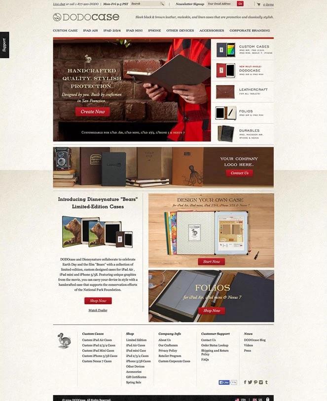DodoCase Landing Page