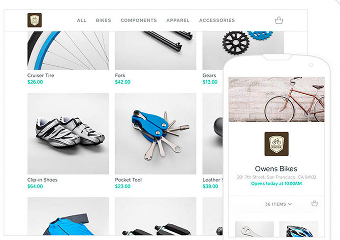 Ecommerce site in Tablet and mobile view
