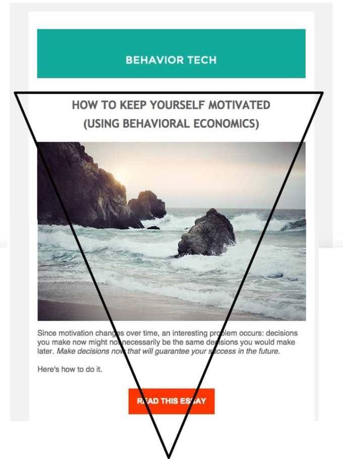 Inverted Triangle Email Design Example with Triangle Overlay- Behavior Tech