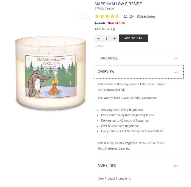 Marshmallow fireside product description