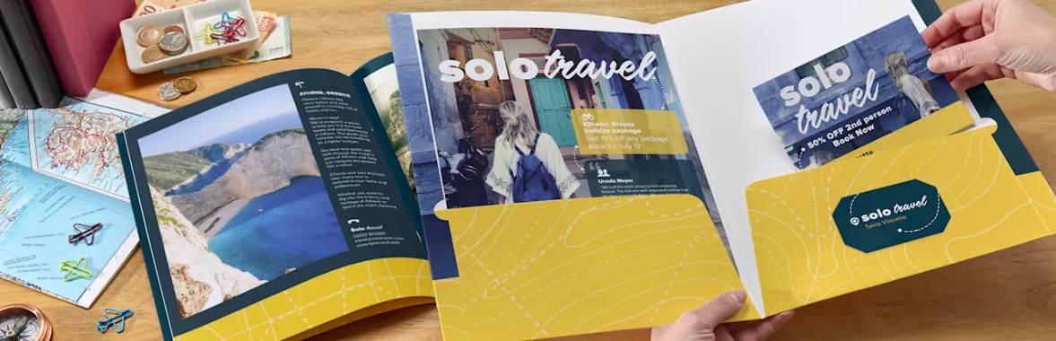 Solo Travel Presentation Folders example