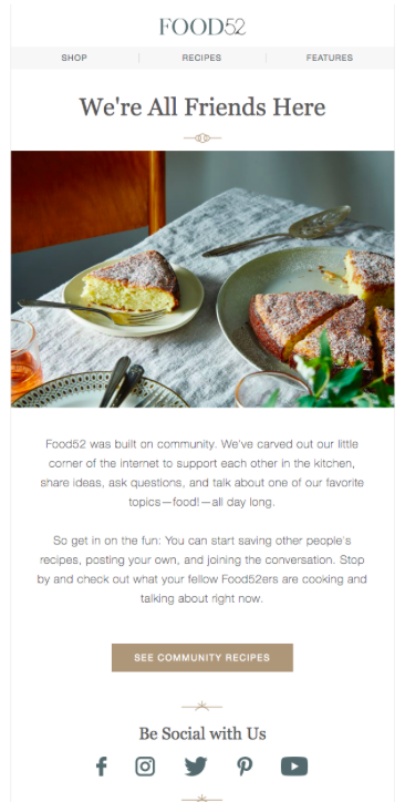 Food52 Email Example