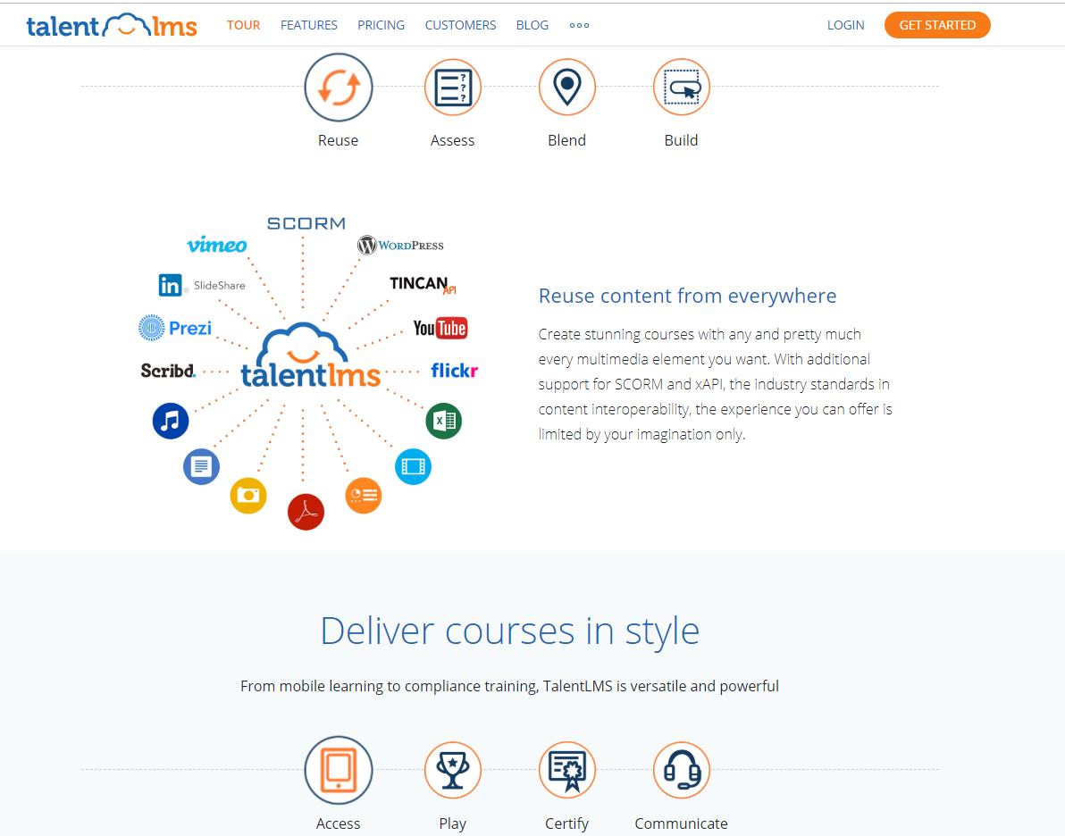 talentLMS Landing Page