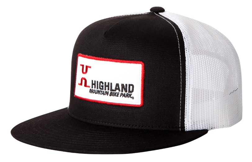 Branded Hat for Bike Park Example