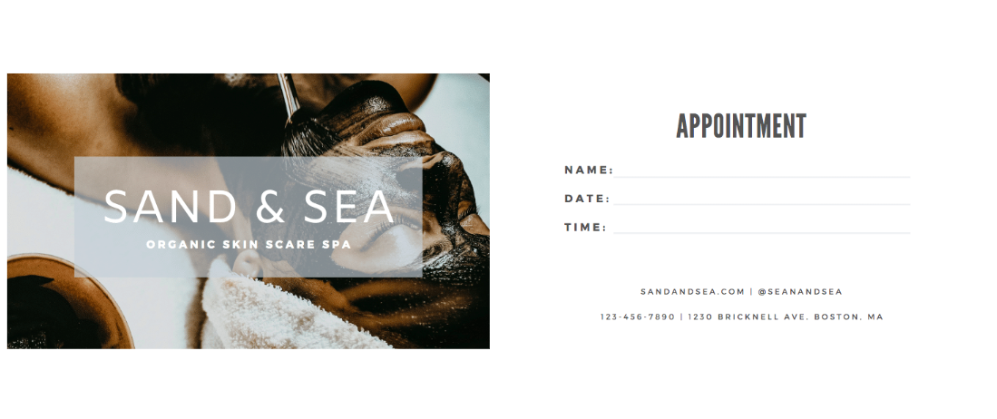 Canva - Business Card Example - Appointments