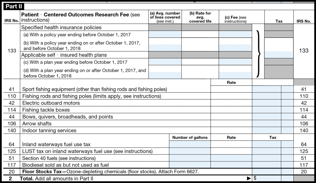 IRS Form 720 — Part II
