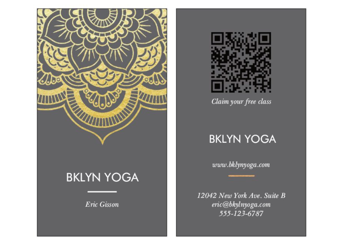 Vistaprint - Business Card Example - Fitness Center