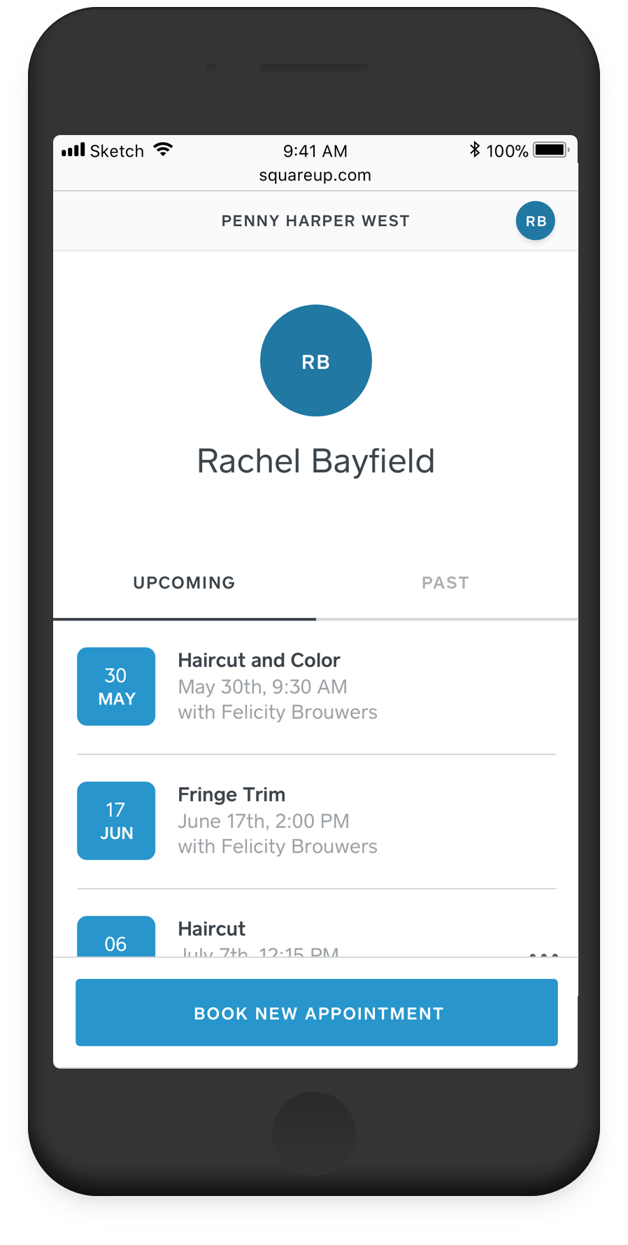 self-scheduling using square appointments app