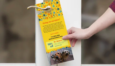 Vistaprint - Door Hangers Marketing Materials