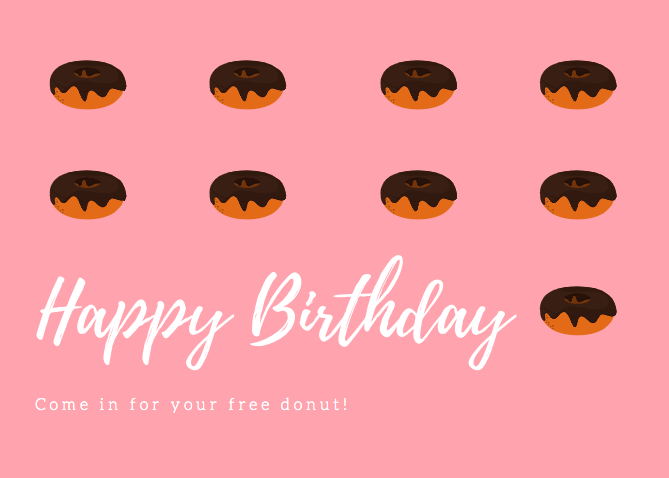 Canva - Happy Birthday Postcard example