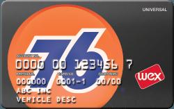 76 Universal fuel card